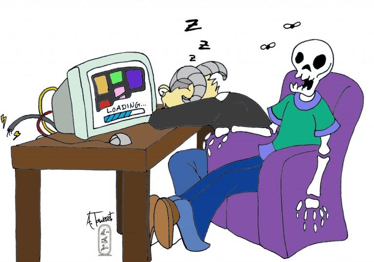 Endlose Leinwände und digitale Comics